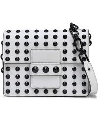 Michael Kors - Woman Studded Leather Shoulder Bag White - Lyst