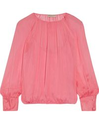Emilio Pucci - Gathered Silk Blouse - Lyst