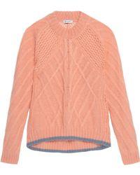Vionnet - Cable-knit Mohair-blend Jumper - Lyst