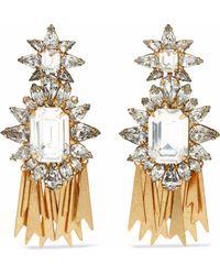 Elizabeth Cole - Woman 24-karat Gold-plated Swarovski Crystal Earrings Gold Size -- - Lyst