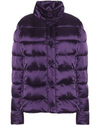 Love Moschino - Woman Quilted Shell Down Coat Purple - Lyst