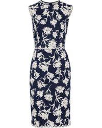 Sachin & Babi - Lillie Embellished Floral-print Faille Dress - Lyst