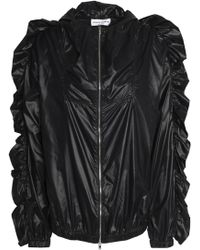 Sonia Rykiel - Ruched Shell Hooded Jacket - Lyst