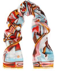 Emilio Pucci - Printed Cashmere And Silk-blend Gauze Scarf - Lyst