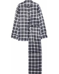 cb706dd1d0 Equipment - Avery Checked Washed-silk Pajama Set - Lyst