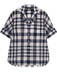 Theory - Ralfinn Plaid Cotton-voile Shirt - Lyst