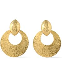 Ben-Amun - Woman Hammered Gold-tone Clip Earrings Gold Size -- - Lyst