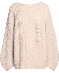 Vince - Cable-knit Wool-blend Jumper - Lyst