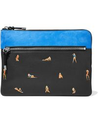 Alexander Wang - Nubuck-paneled Embossed Textured-leather Tablet Case - Lyst
