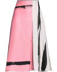 Christopher Esber - Painterly Stripe Colour Block Skirt - Lyst