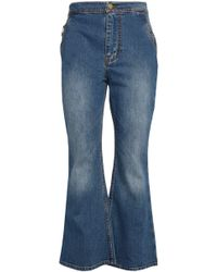 Ellery Woman Faded High-rise Flared Jeans Mid Denim Size 31 Ellery sqvT3T5La