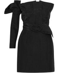 Carmen March - Strapless Pleated Ponte Mini Dress - Lyst