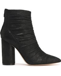 Sigerson Morrison - Kimay Ruched Leather Ankle Boots - Lyst