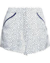 Fleur du Mal - Polka-dot Silk-satin Pajama Shorts - Lyst