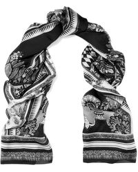 Roberto Cavalli - Printed Silk-chiffon Scarf - Lyst