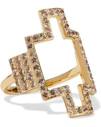 Elizabeth and James - Kota Gold-tone Crystal Ring - Lyst