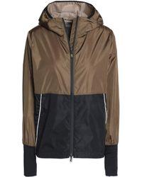 Sàpopa - Two-tone Shell Hooded Jacket Army Green - Lyst