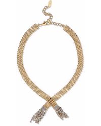 Elizabeth Cole - Beaded Gold-tone And Crystal Necklace - Lyst