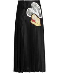 Marco De Vincenzo - Leaf Appliqués Pleated Skirt - Lyst