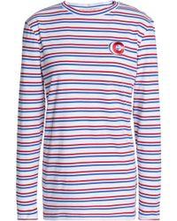 Être Cécile - Appliquéd Striped Cotton-jersey Top - Lyst