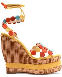 Paloma Barceló Woman Nance Fringed Suede Platform Sandals Red Size 40 Paloma Barceló mpGbft