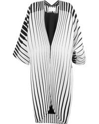 Vionnet - Striped Wool Coat - Lyst