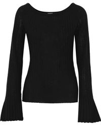 Elie Tahari - Weslyn Ribbed Wool Sweater - Lyst