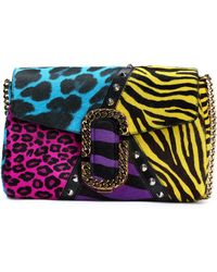 Marc Jacobs - Embellished Animal-print Calf Hair Shoulder Bag - Lyst