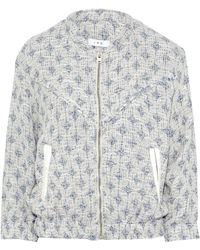 IRO - Leather-trimmed Cotton-blend Tweed Bomber Jacket - Lyst