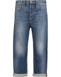 Marc By Marc Jacobs - Annie Cropped Boyfriend Jeans Mid Denim - Lyst