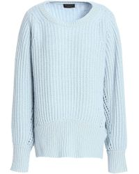 Rag & Bone - Open Knit-trimmed Ribbed Cashmere Jumper - Lyst