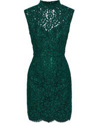 Sandro - Romie Open-back Corded Lace Mini Dress - Lyst