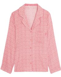 CALVIN KLEIN 205W39NYC - Printed Voile Pyjama Top - Lyst