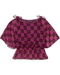 Anna Sui - Printed Silk-georgette Blouse - Lyst