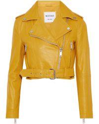 W118 by Walter Baker - Shirley Leather Biker Jacket - Lyst