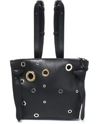 Jil Sander - Eyelet-embellished Leather Backpack - Lyst