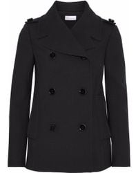 RED Valentino - Double-breasted Cotton-blend Twill Coat - Lyst