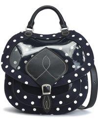 Maison Margiela - Printed Pvc And Leather Shoulder Bag - Lyst