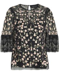 Needle & Thread - Embellished Embroidered Tulle Top - Lyst