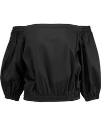 Alexis - Vitali Off-the-shoulder Cotton-blend Top - Lyst