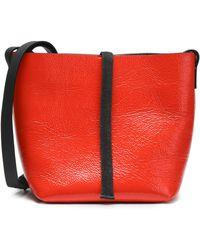 Brunello Cucinelli - Bead-embellished Patent-leather Shoulder Bag - Lyst