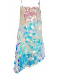 Sandy Liang - Minskin Asymmetric Layered Sequined Tulle Dress - Lyst