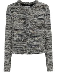 IRO - Woman Carene Bouclé-tweed Jacket Gray - Lyst