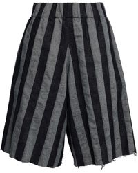 Marques'Almeida - Woman Striped Denim Shorts Anthracite - Lyst