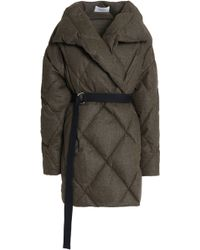 Pringle of Scotland - Quilted Brushed Wool-blend Down Coat - Lyst