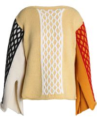 JW Anderson - Color-block Cable-knit Wool-blend Jumper - Lyst