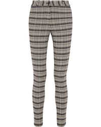 Victoria Beckham - Checked Tweed Skinny Trousers - Lyst