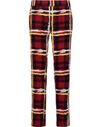 Marc By Marc Jacobs - Printed Crepe Slim-leg Pants - Lyst
