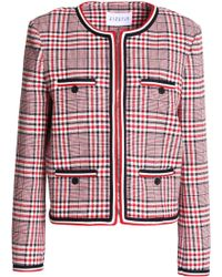 Claudie Pierlot - Vanina Checked Cotton-blend Jacket - Lyst