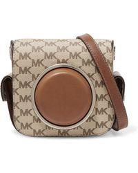 Michael Kors - Leather-paneled Canvas Shoulder Bag - Lyst